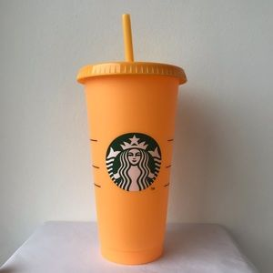 Starbucks Orange Color Changing Venti Cold Cup